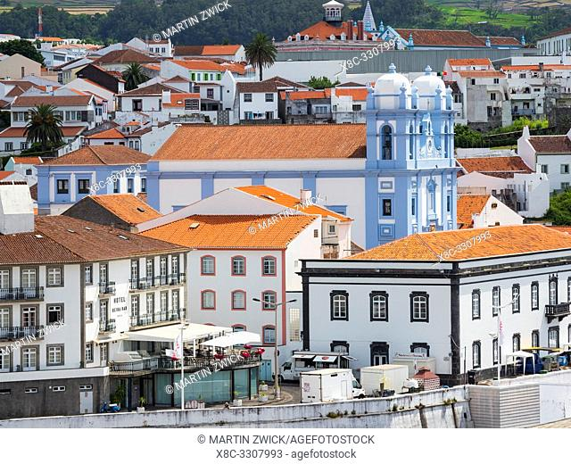 Church Igreja da Misericordia. Capital Angra do Heroismo, the historic center is part of UNESCO world heritage. Island Ilhas Terceira
