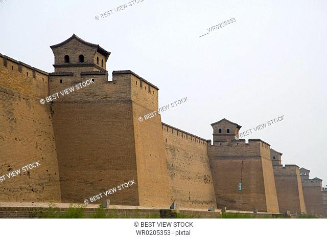 The City Wall of the Ancient City of Ping Yao,Shanxi Province