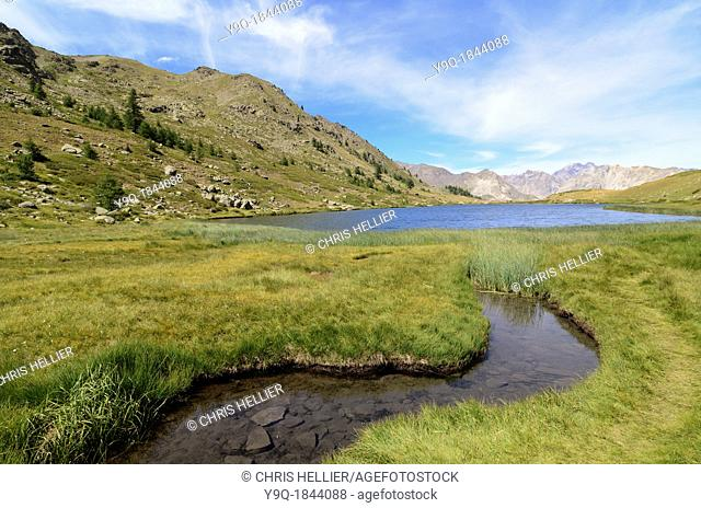 Lac de Cristol or Cristol Alpine Lake in the Briançonnais Hautes-Alpes French Alps France