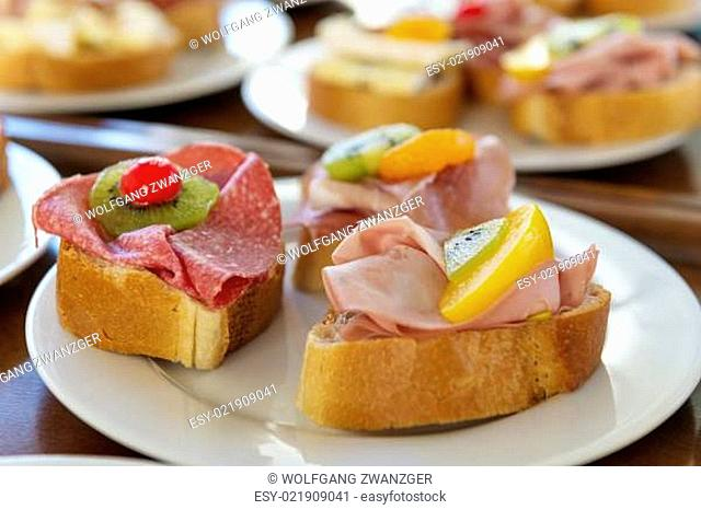 Sandwiches on plate