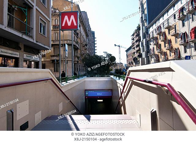 Italy, Milan, Subway MM5