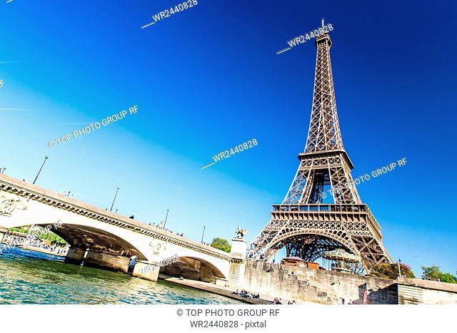 France;Paris;Seine;pleasure-boat