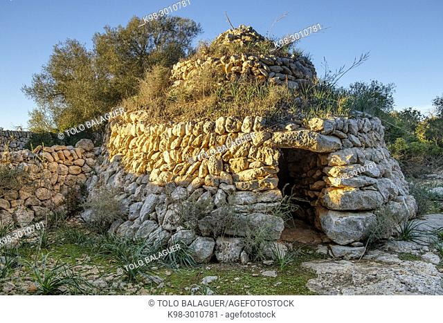 barraca de Sa Quintana de Son Vidal, llucmajor, Mallorca, balearic islands, Spain