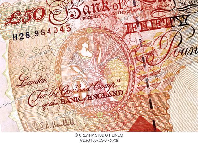 50 British Pound, detail