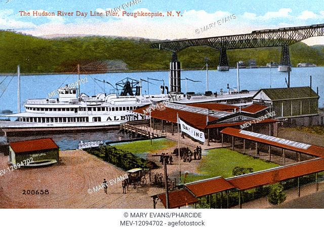 Hudson River Day Line Pier, Poughkeepsie, New York State, USA