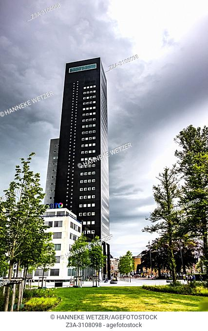 Modern Deloitte Tower in Leeuwarden, Friesland, The Netherlands, Europe