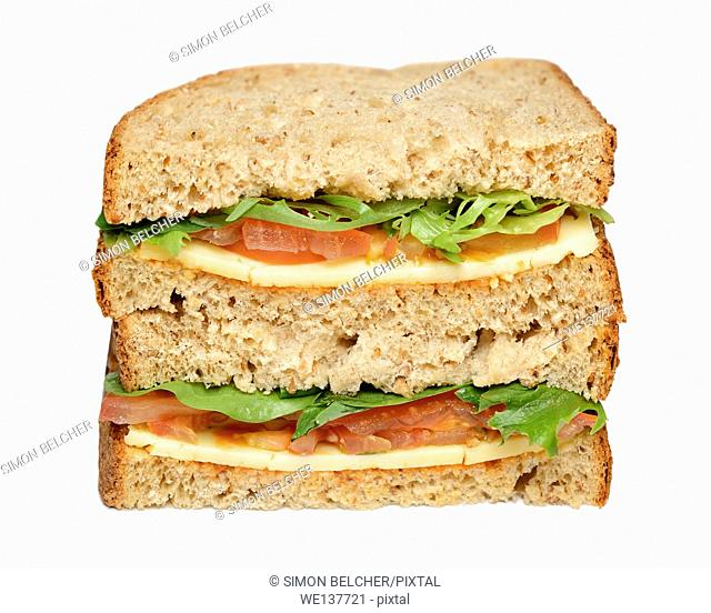Sandwich, Cheese and Tomato, Cut Out