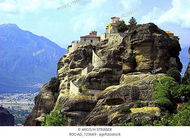 Meteora monastry Varlaam near Kalambaka Thessaly Greece greek orthodox