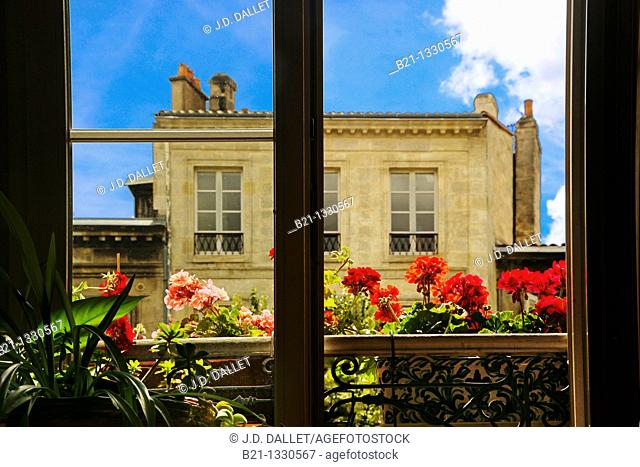 Old Bordeaux from a window, Gironde, Aquitaine, France