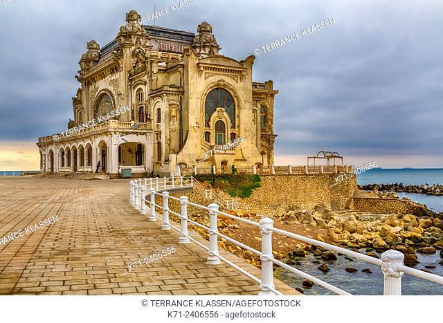 The old Casino on the shores of the Black Sea in Constanta, Romania