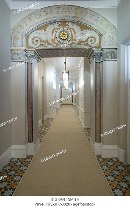 St. Pancras Chambers CORRIDOR SHOWING ARCHWAY WITH MYTHICAL BEASTS ©ÊGrant Smith 2009