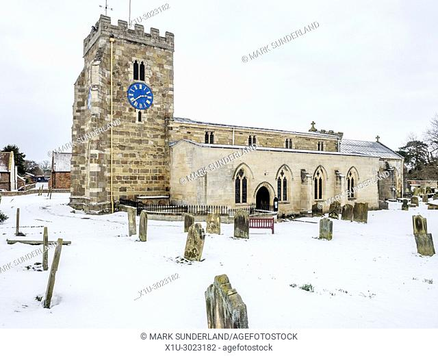 St Andrews Church in Winter Aldborough near Boroughbridge North Yorkshire England