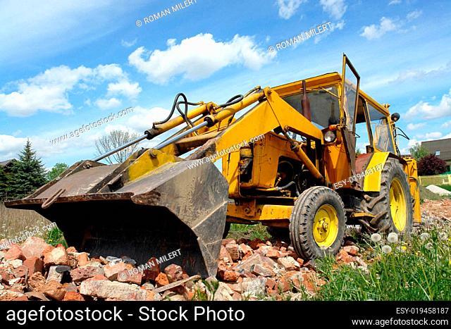 Backhoe loader at work