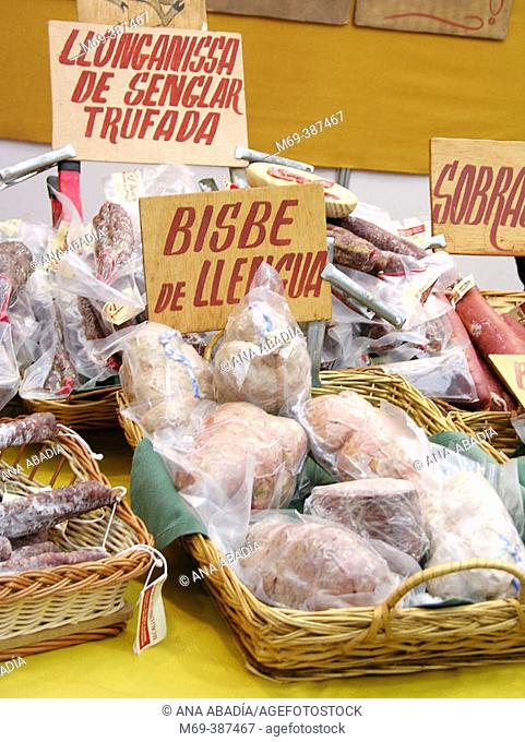 Mixed sausages. Catalonia. Spain