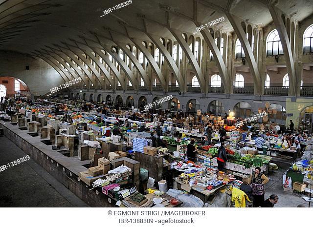 Central market hall at downtown Yerevan, Jerewan, Armenia, Asia