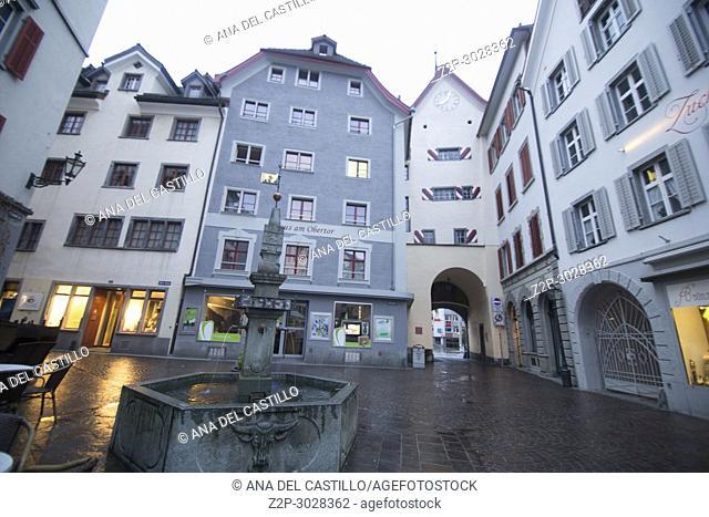 Medieval Houses in Chur, Graubünden, Switzerland