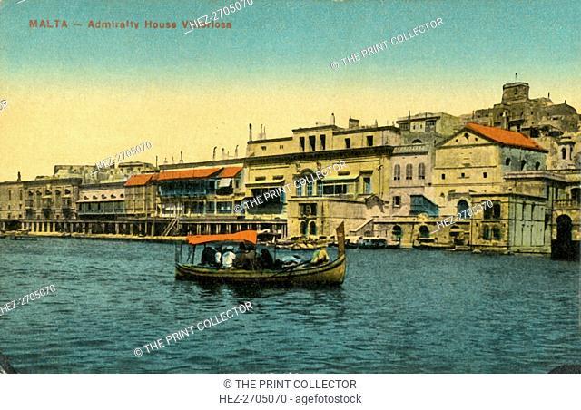 'Malta - Admirality House Vittoriosa', c1918-c1939. Creator: Unknown