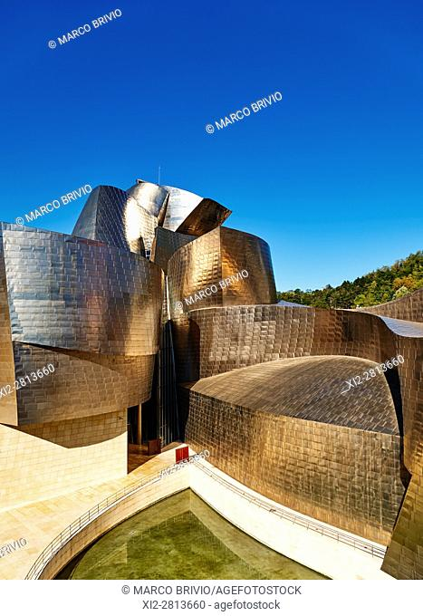 The Guggenheim Museum by Frank Gehry. Bilbao, Basque Country, Spain
