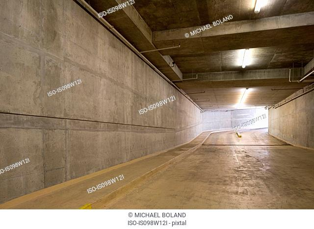 Underground car park, Vancouver, British Columbia, Canada