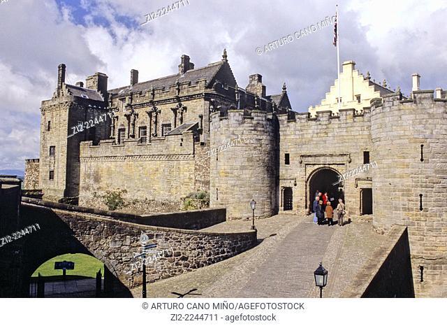 Castle, XV-XVIth centuries. Stirling, Scotland, United Kingdom