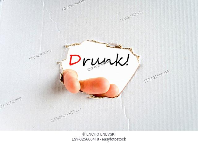 Drunk text concept isolated over white background