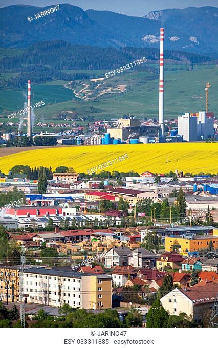 RUZOMBEROK, SLOVAKIA - MAY 5: Factory Mondi in town Ruzomberok on May , 2014 in Ruzomberok