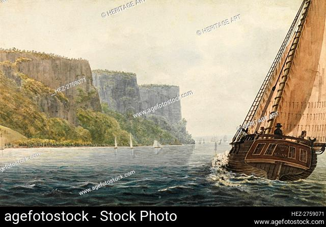 The Packet Mohawk of Albany Passing the Palisades, 1811-ca. 1813. Creator: Pavel Petrovic Svin'in
