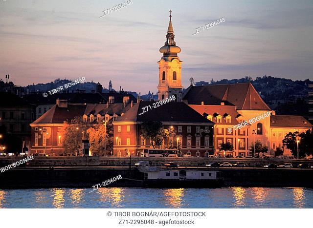 Hungary, Budapest, St Florian Chapel, Danube River