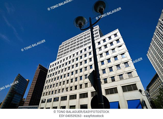 Berlin modern city buildings downtown in Germany