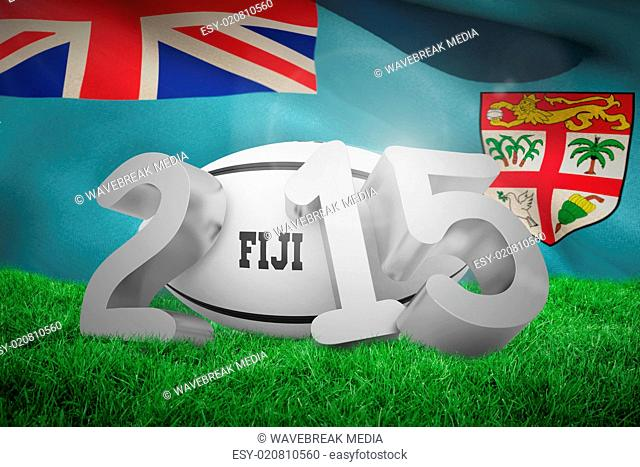 Composite image of fiji rugby 2015 message