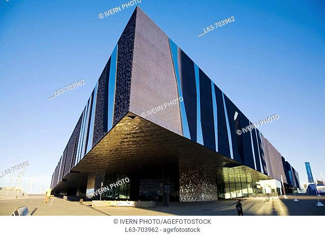 Forum Building by Jacques Herzog and Pierre de Meuron. Barcelona. Catalonia. Spain