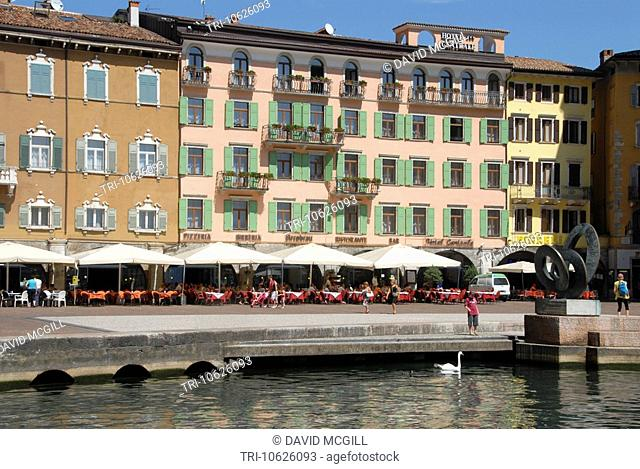 Waterfront buildings, Riva del Garda, Italy