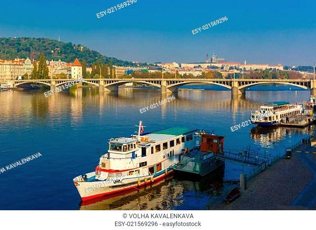 Jiraskuv bridge in Prague, Czech Republic