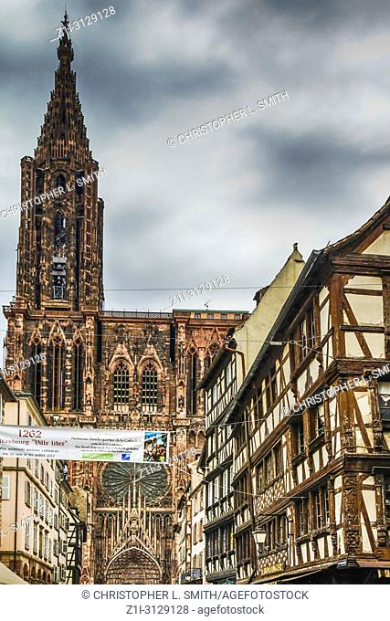 The Cathedrale Notre Dame de Strasbourg in France