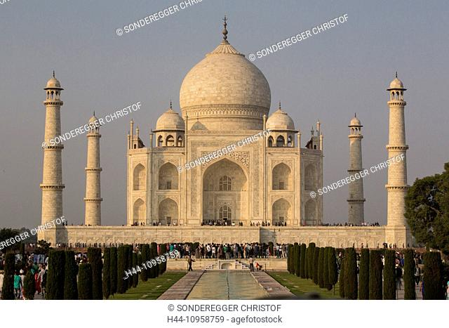 Taj Mahal, Agra, Uttar Pradesh, mausoleum, Asia, minaret, park