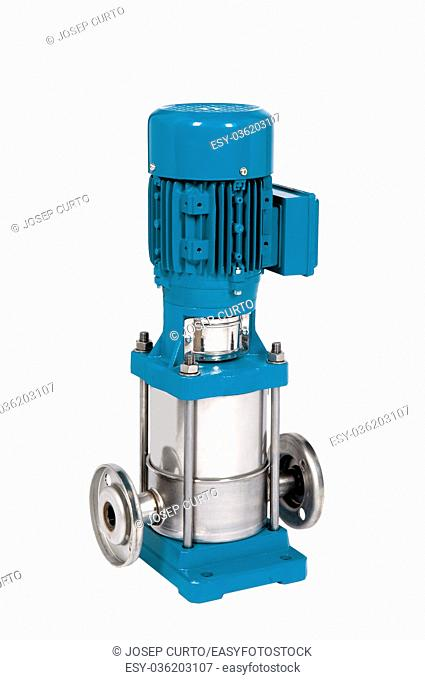 Water pressure pump on white
