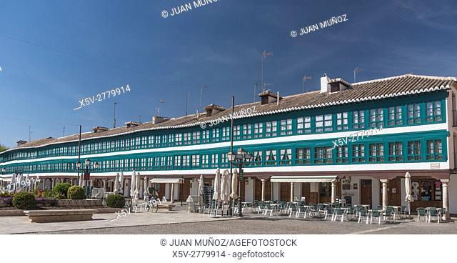 Plaza Mayor de Almagro, Ciudad Real, Castilla-La Mancha, Spain, Europe, Don Quixote Route