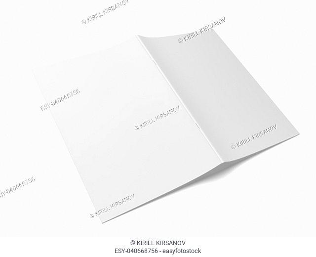 Blank magazine. 3d illustration isolated on white background
