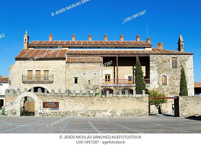 Condes de Alba de Liste Palace XV century in the famous main square of Garrovillas de Alconétar, one of the twelve main squares of Spain and declarated BIC...