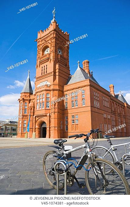 The Pierhead Building. Building of the National Assembly for Wales. Welsh history museum. By Welsh architect, William Frame. Cardiff Bay. Cardiff