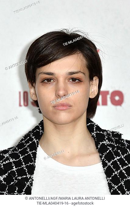 Sara Serraiocco during Netflix Lo Spietato photocall. Rome, Italy 04-04-2019