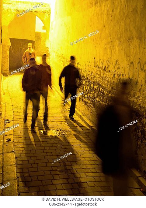 People walking on street in Fez, Morocco
