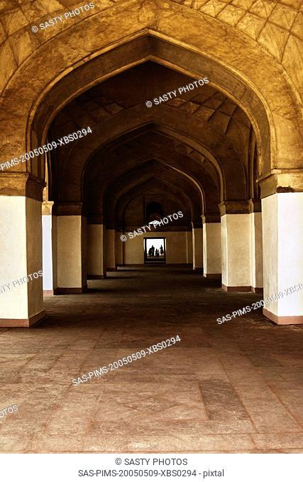Interiors of a mausoleum, Tomb Of Akbar The Great, Sikandra, Agra, Uttar Pradesh, India