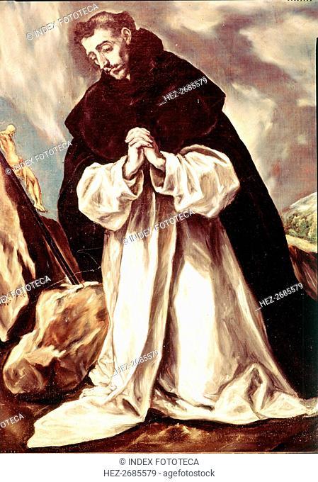 Saint Domingo of Guzmán, oil by El Greco