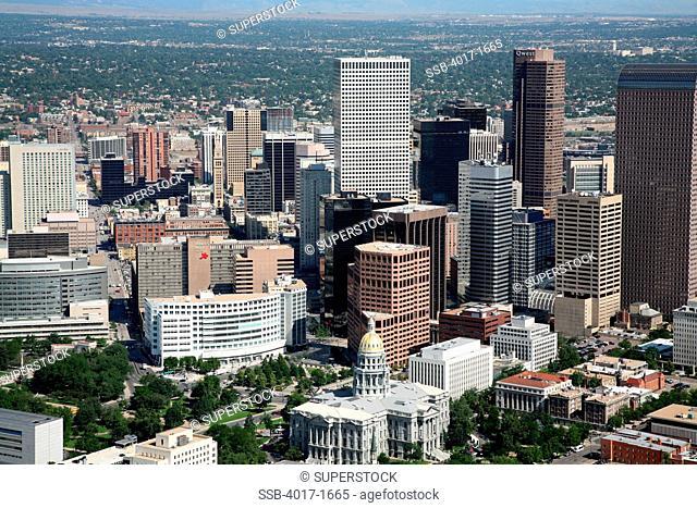 Coloroado Capitol Building and Denver Skyline