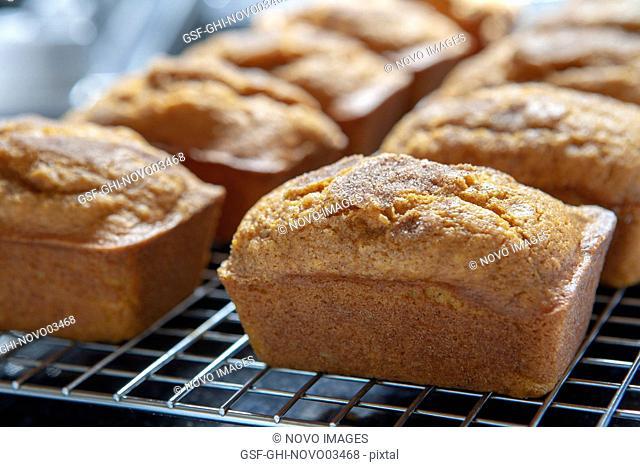 Mini Pumpkin Breads on Cooling Rack