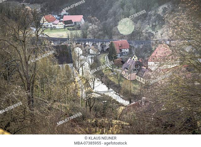 View of Rothenburg ob der Tauber, Franconia, Bavaria, Germany, Europe