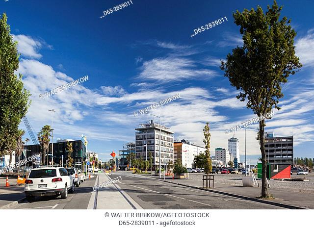 New Zealand, South Island, Christchurch, post 2011 earthquke rebuilding, Manchester and Litchfield Streets