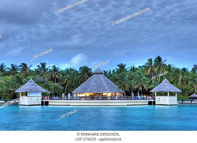 Sunset on Maldive Island Ellaidhoo, Maldives, North Ari Atoll