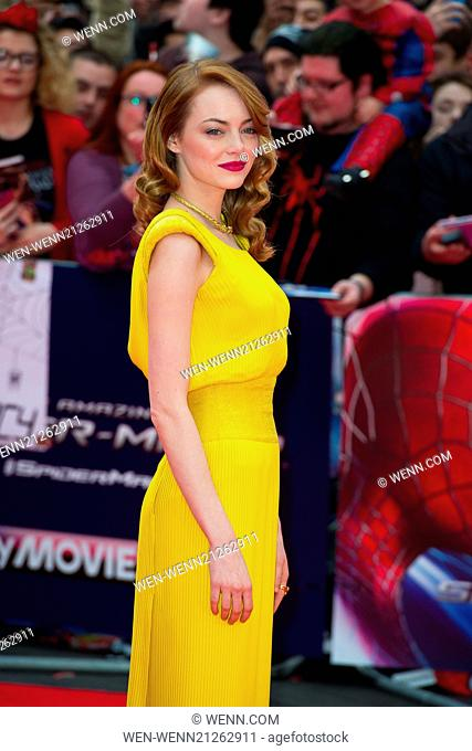 'The Amazing Spider-Man 2' World Premiere held at the Odeon Leicester Square - Arrivals Featuring: Emma Stone Where: London
